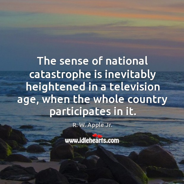 The sense of national catastrophe is inevitably heightened in a television age, when the whole country participates in it. Image
