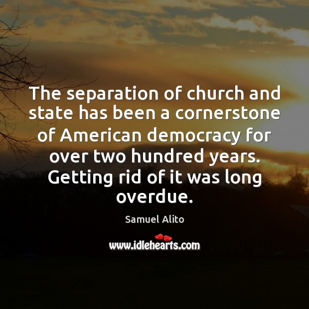 Image, The separation of church and state has been a cornerstone of American