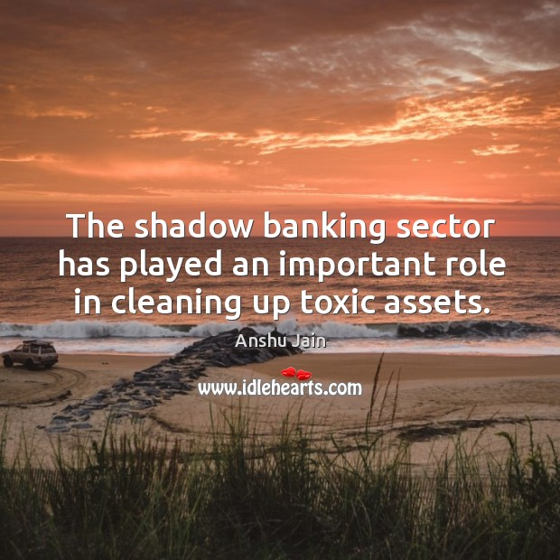 Image, The shadow banking sector has played an important role in cleaning up toxic assets.