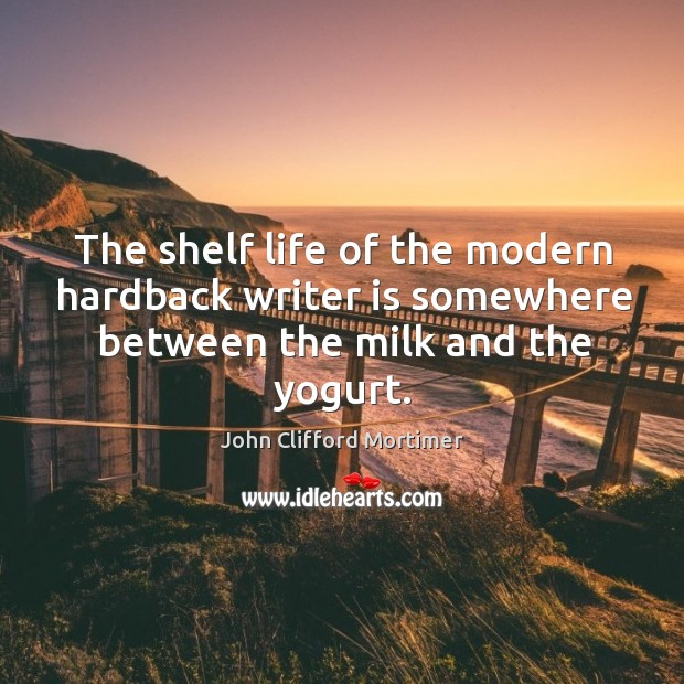 The shelf life of the modern hardback writer is somewhere between the milk and the yogurt. Image