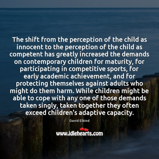 Image, The shift from the perception of the child as innocent to the
