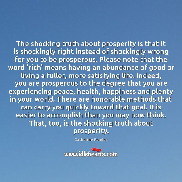 Image, The shocking truth about prosperity is that it is shockingly right instead