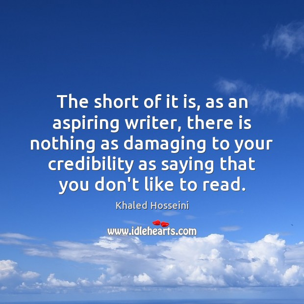 The short of it is, as an aspiring writer, there is nothing Image