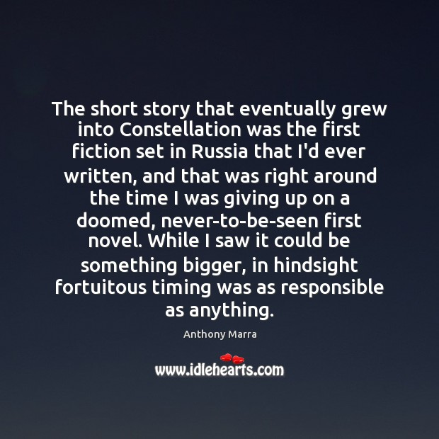 Image, The short story that eventually grew into Constellation was the first fiction