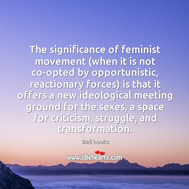 Image, The significance of feminist movement (when it is not co-opted by opportunistic,