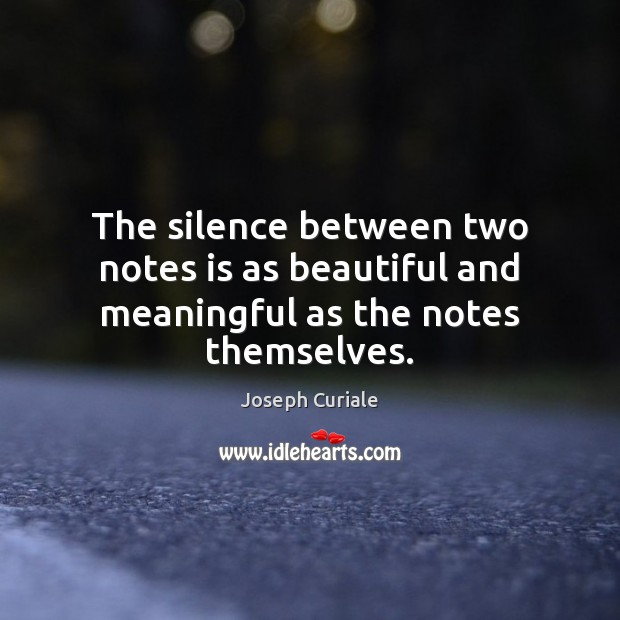The silence between two notes is as beautiful and meaningful as the notes themselves. Image