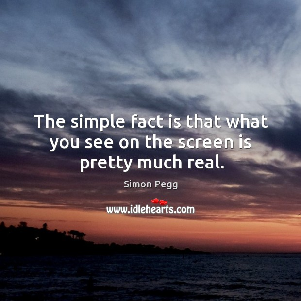 Image, The simple fact is that what you see on the screen is pretty much real.