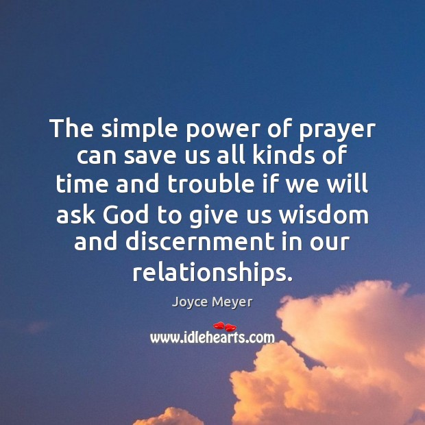 Image, The simple power of prayer can save us all kinds of time