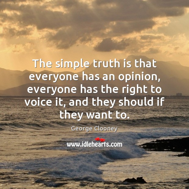 The simple truth is that everyone has an opinion, everyone has the Image