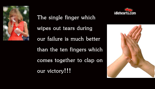 The Single Finger Which Wipes Out Tears During…