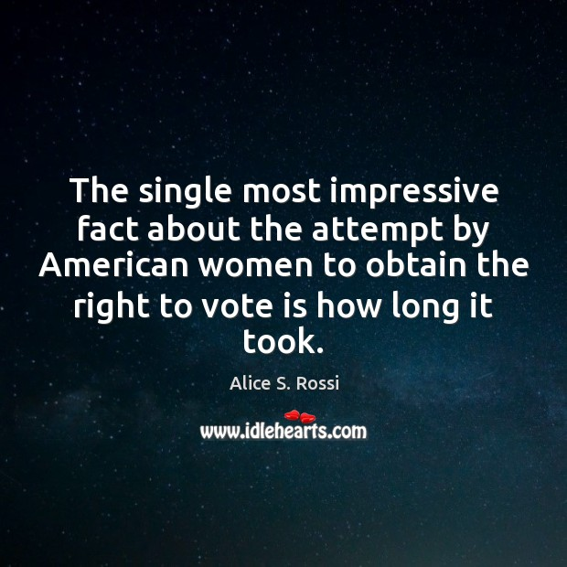 Image, The single most impressive fact about the attempt by American women to