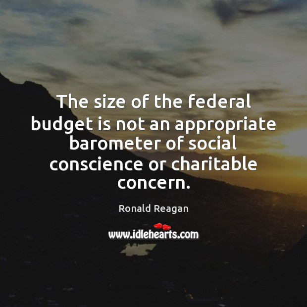 Image, The size of the federal budget is not an appropriate barometer of