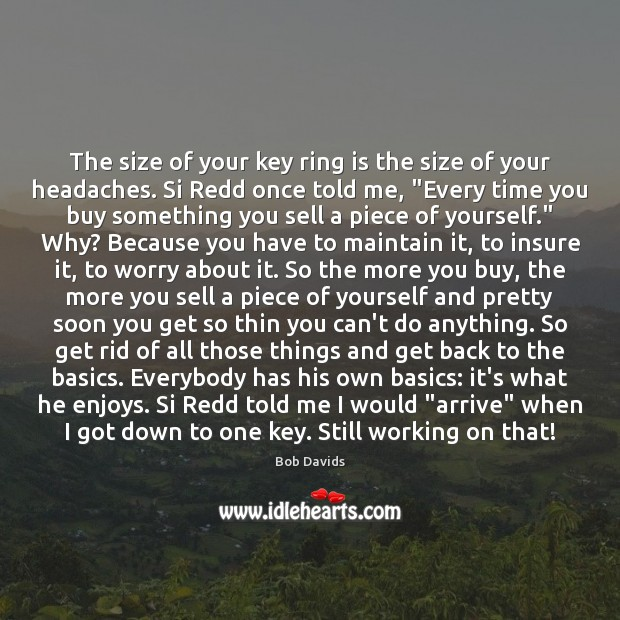Image, The size of your key ring is the size of your headaches.