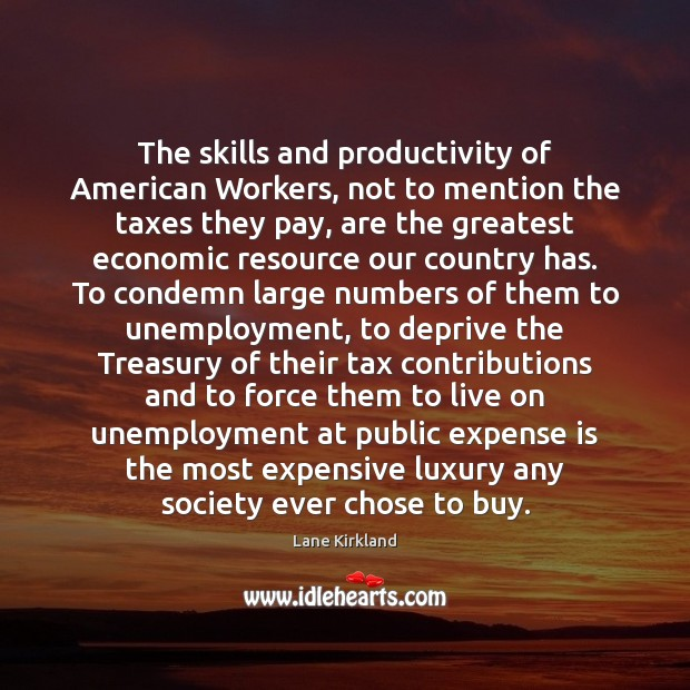 Image, The skills and productivity of American Workers, not to mention the taxes