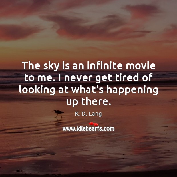 Image, The sky is an infinite movie to me. I never get tired