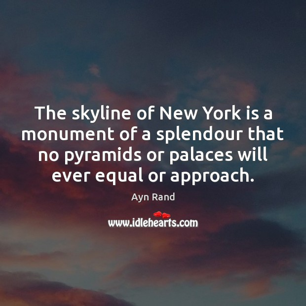 The skyline of New York is a monument of a splendour that Image