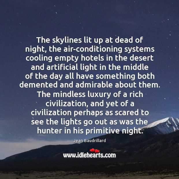 Image, The skylines lit up at dead of night, the air-conditioning systems cooling