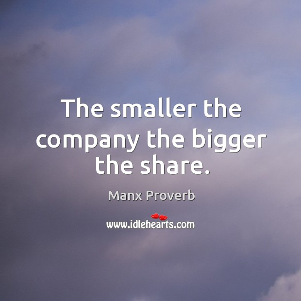 Image, The smaller the company the bigger the share.