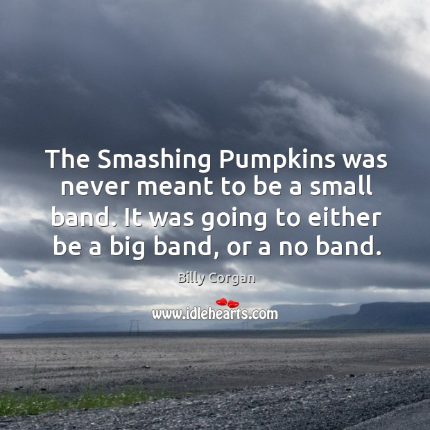 The Smashing Pumpkins was never meant to be a small band. It Image