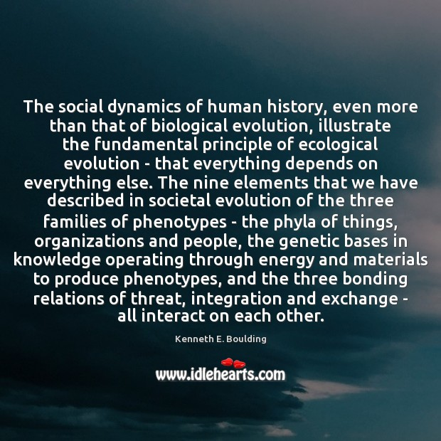 The social dynamics of human history, even more than that of biological Image
