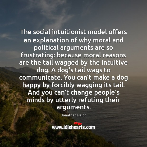 Image, The social intuitionist model offers an explanation of why moral and political