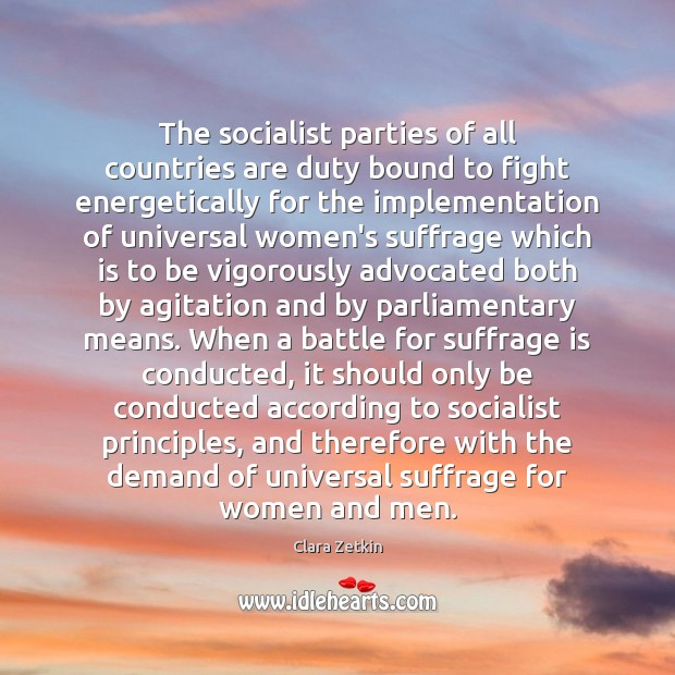 Image, The socialist parties of all countries are duty bound to fight energetically