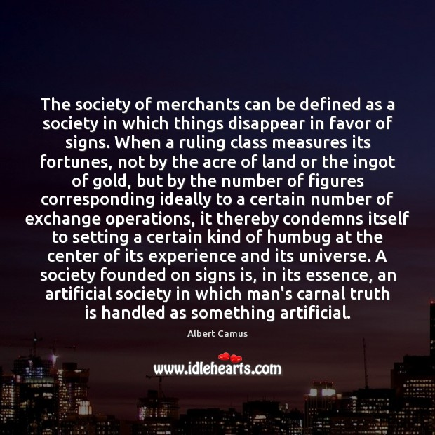 Image, The society of merchants can be defined as a society in which