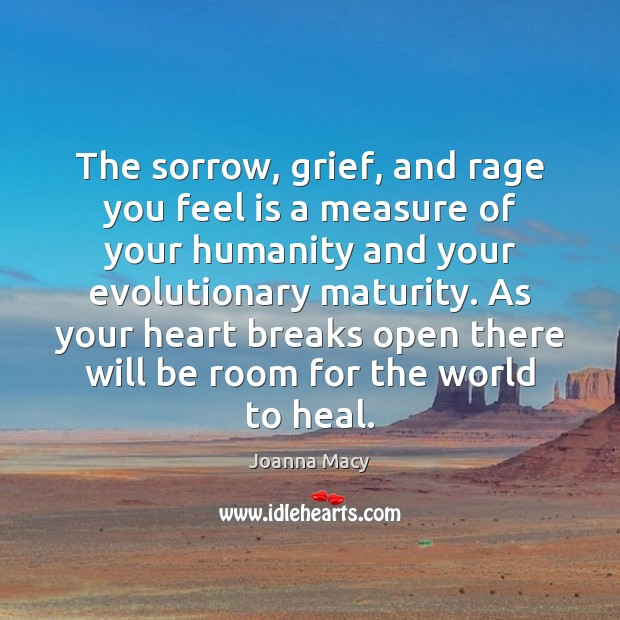 The sorrow, grief, and rage you feel is a measure of your Heal Quotes Image