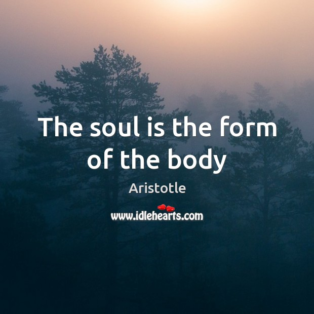 Image, The soul is the form of the body