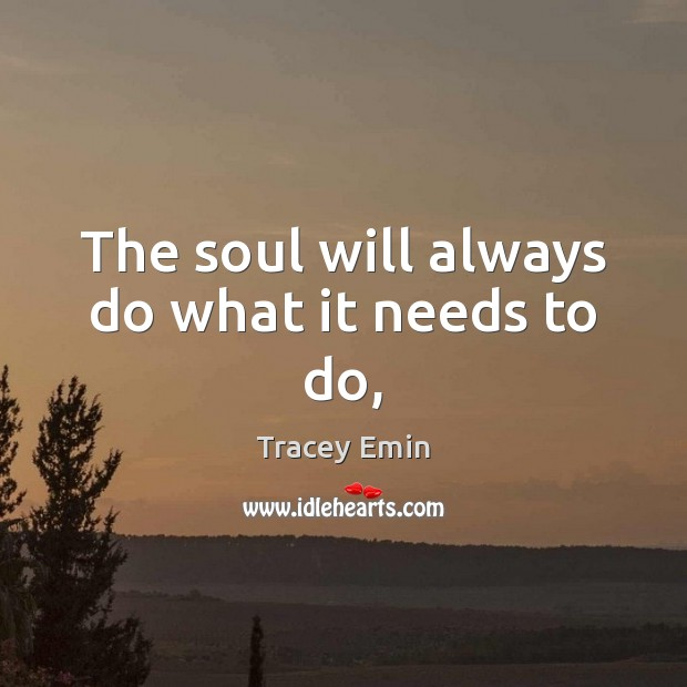 The soul will always do what it needs to do, Image