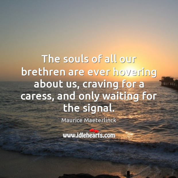 The souls of all our brethren are ever hovering about us, craving Image