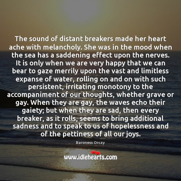 The sound of distant breakers made her heart ache with melancholy. She Image