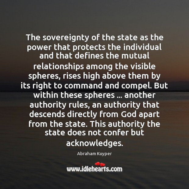 Image, The sovereignty of the state as the power that protects the individual