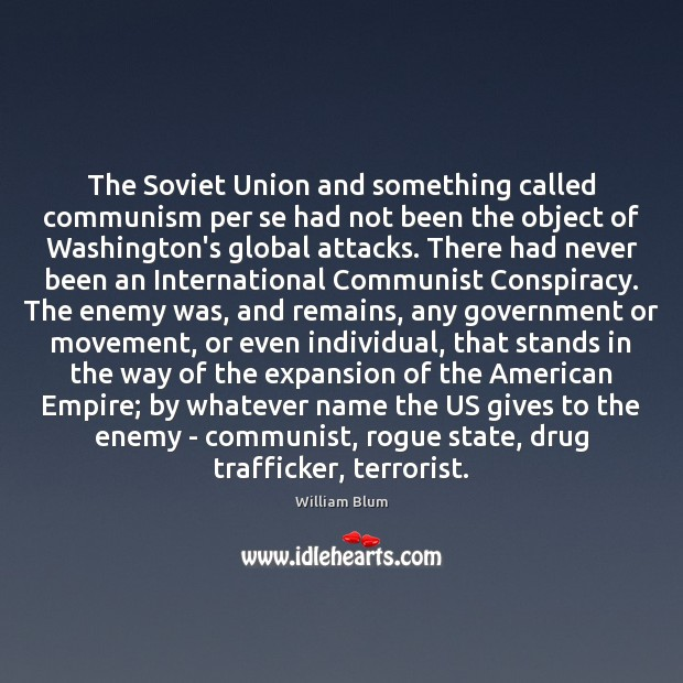 Image, The Soviet Union and something called communism per se had not been