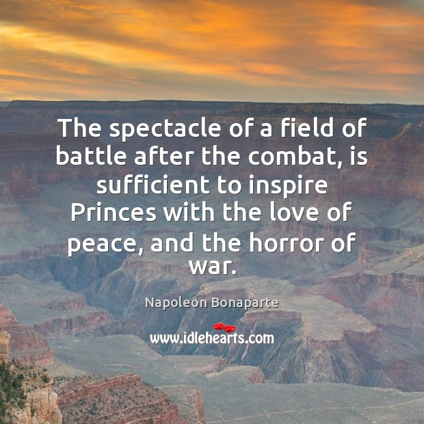 The spectacle of a field of battle after the combat, is sufficient Image
