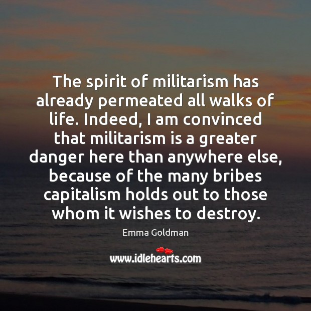 The spirit of militarism has already permeated all walks of life. Indeed, Image