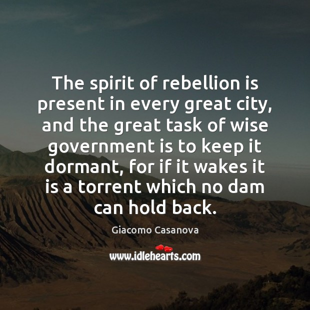 The spirit of rebellion is present in every great city, and the Image