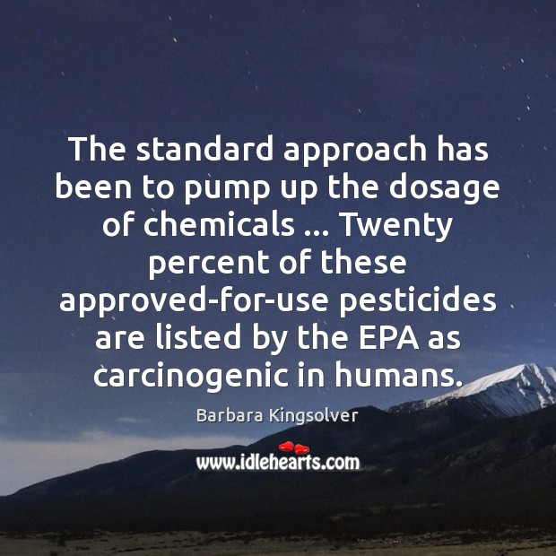The standard approach has been to pump up the dosage of chemicals … Image