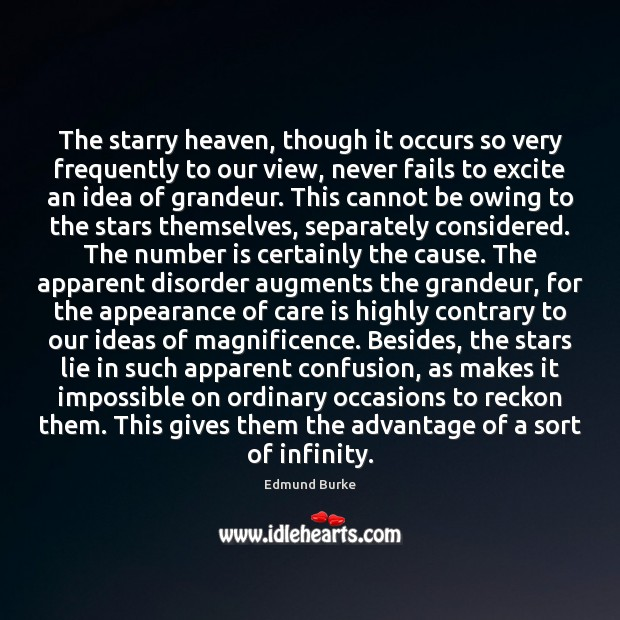 Image, The starry heaven, though it occurs so very frequently to our view,
