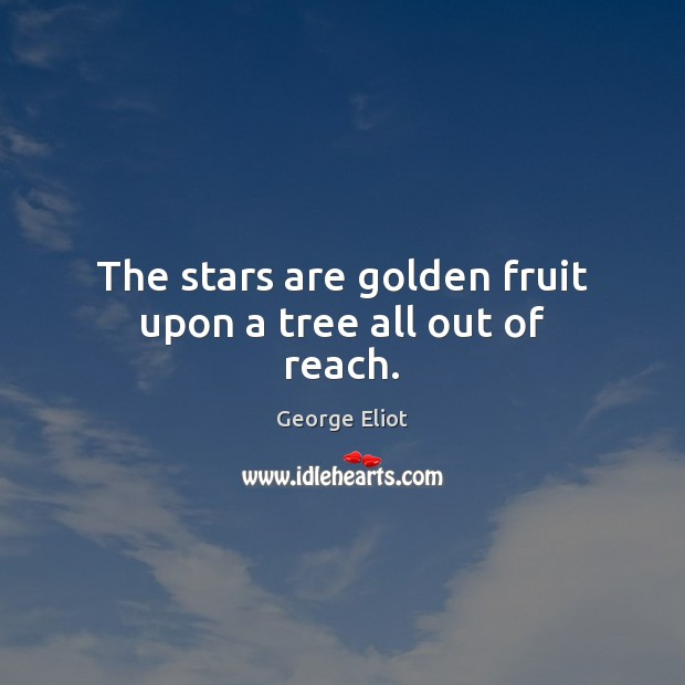 Image, The stars are golden fruit upon a tree all out of reach.