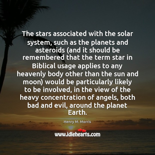 The stars associated with the solar system, such as the planets and Image