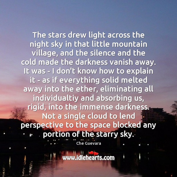 Image, The stars drew light across the night sky in that little mountain