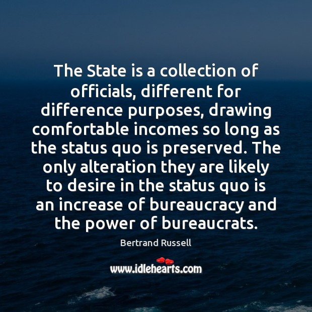 Image, The State is a collection of officials, different for difference purposes, drawing