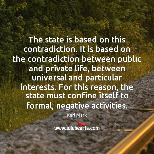 Image about The state is based on this contradiction. It is based on the