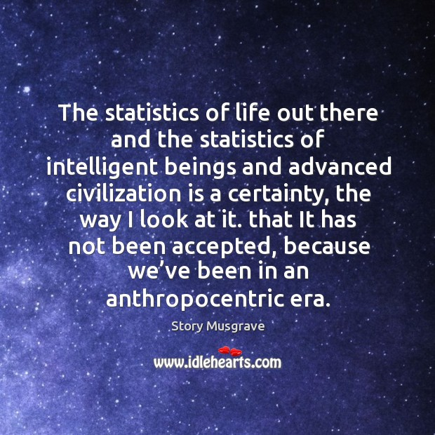 Image, The statistics of life out there and the statistics of intelligent beings and advanced