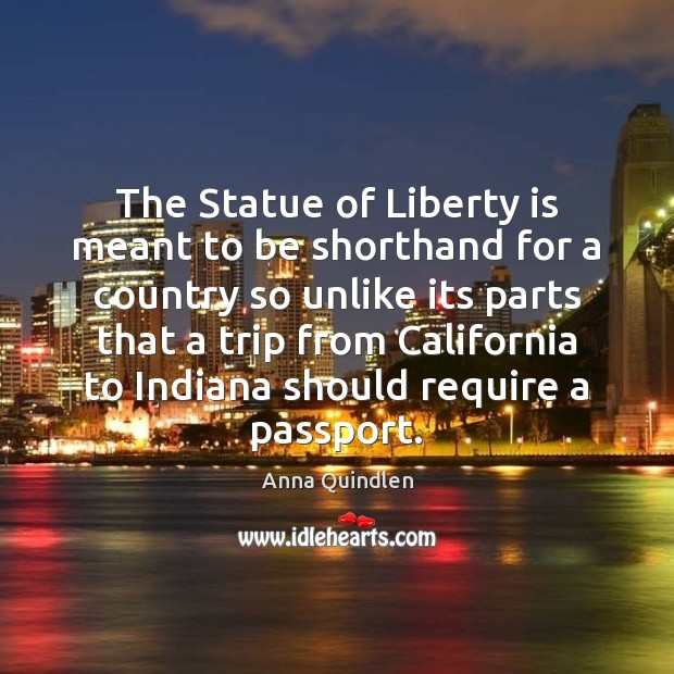 Image, The Statue of Liberty is meant to be shorthand for a country