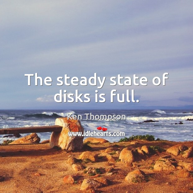 The steady state of disks is full. Image