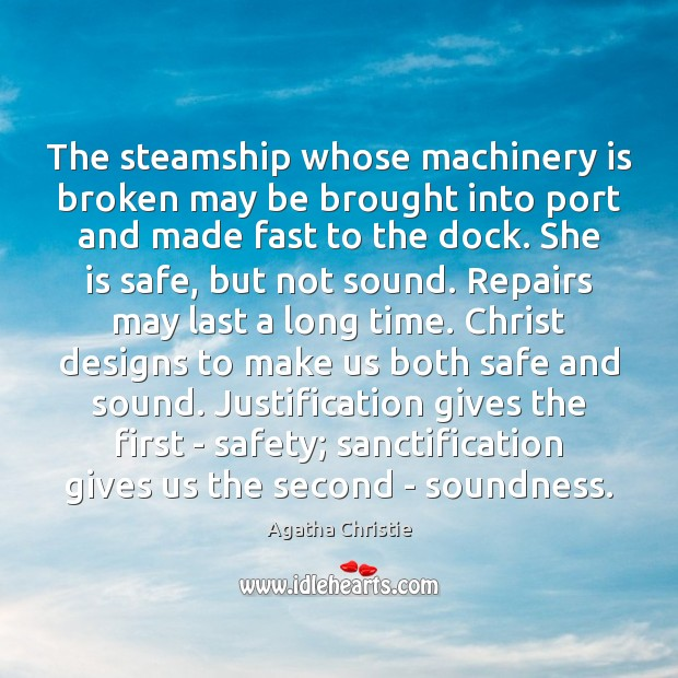 Image, The steamship whose machinery is broken may be brought into port and