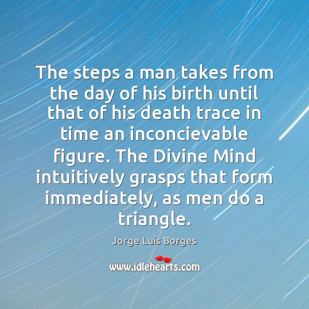 The steps a man takes from the day of his birth until Image