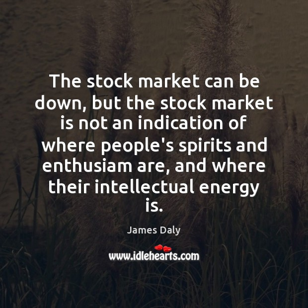 The stock market can be down, but the stock market is not James Daly Picture Quote